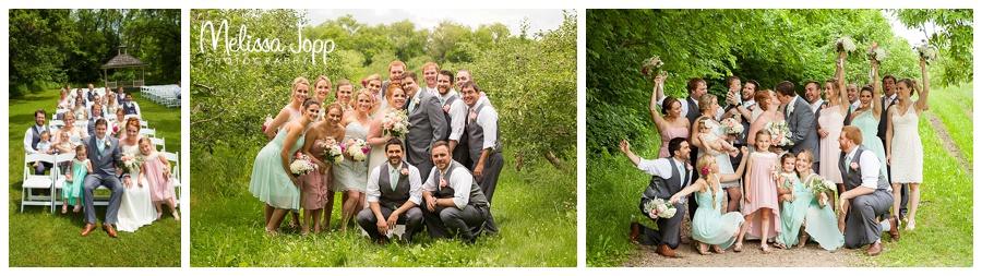 outdoor wedding party photos minnetonka mn