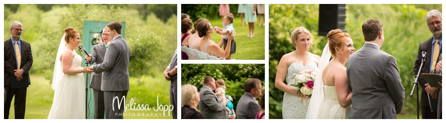 outdoor orchard wedding ceremony minnetonka mn