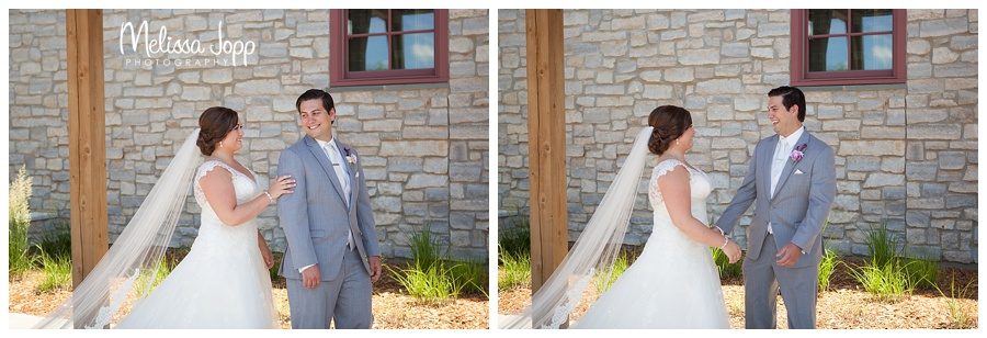 outdoor first look wedding pictures chaska mn