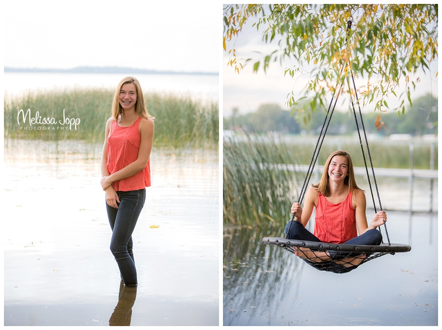 fun senior pictures by the lake waconia mn