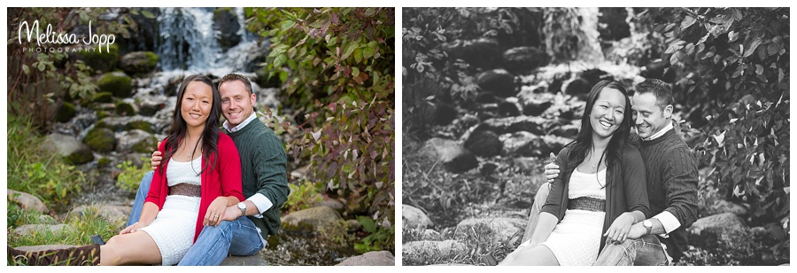 waterfall engagement pictures chanhassen mn