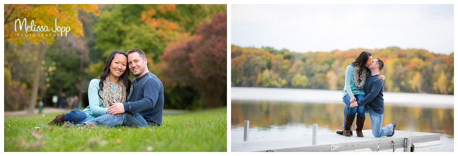engagement pictures by a lake chanhassen mn