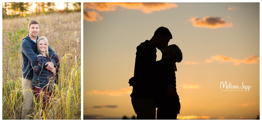 sunset engagement pictures chaska mn