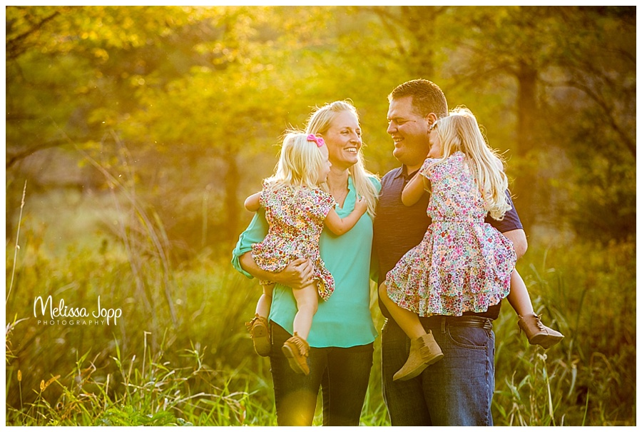 rustic outdoor sunset family pictures carver county mn