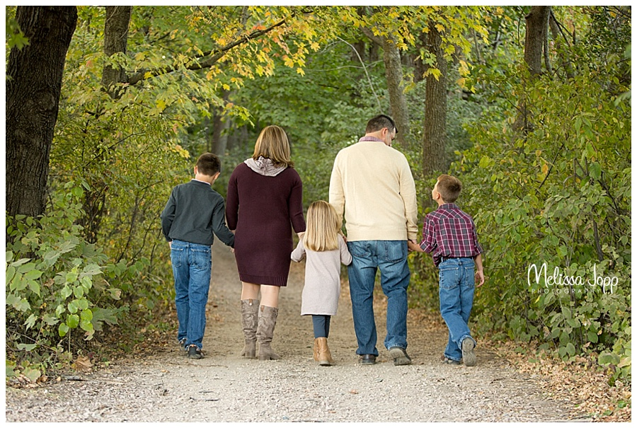 family pictures walking in a trail minnetonka mn