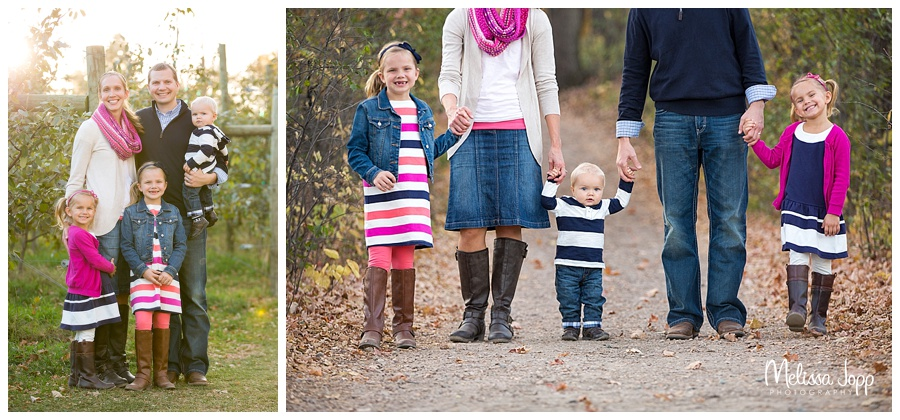 family pictures walking on a path minnetonka mn