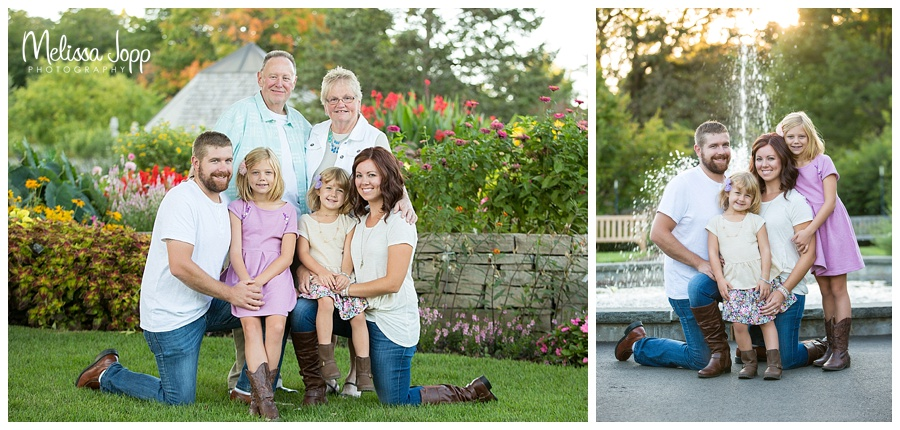 family pictures by a waterfall chaska mn