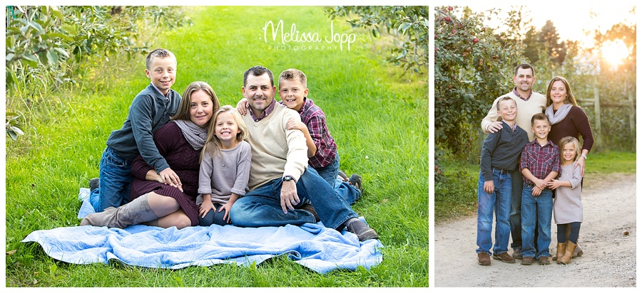 outdoor rustic sunset family pictures minnetonka mn