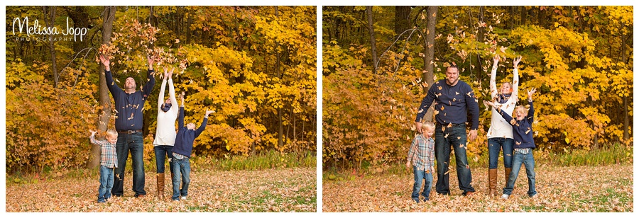 family pictures throwing leaves chanhassen mn