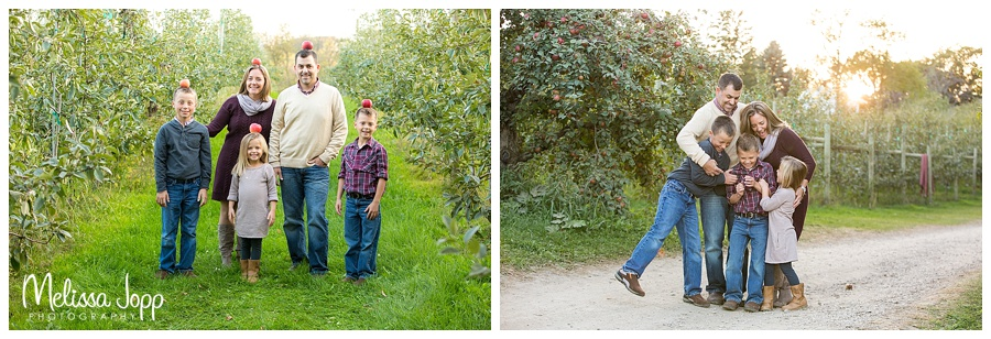 minnetonka orchards sunset family pictures mn