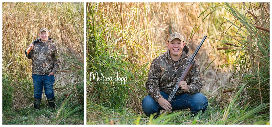hunting senior pictures cologne mn