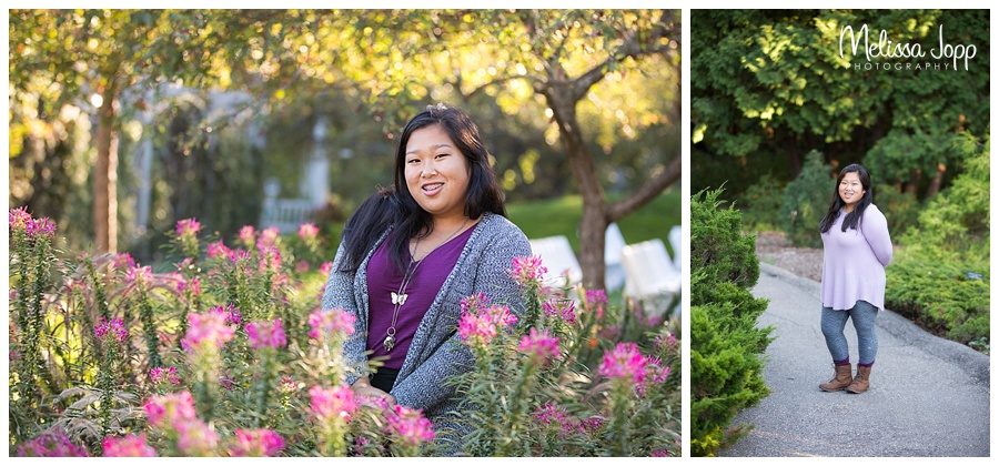 senior pictures with flowers chaska mn