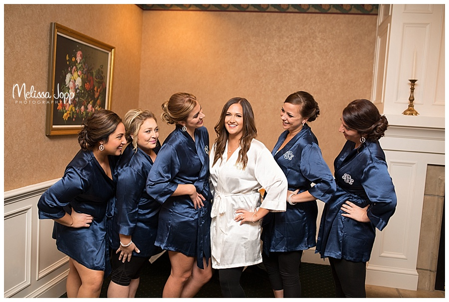 bride getting ready with bridesmaids carver county mn