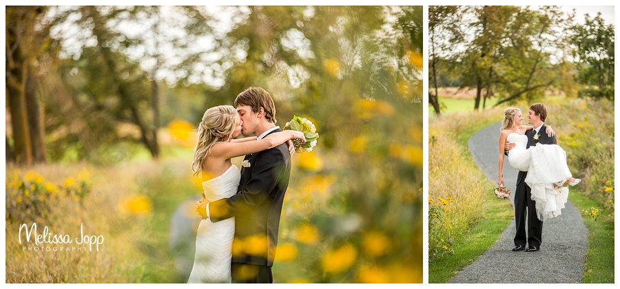 bride and groom kissing pictures southwest metro mn