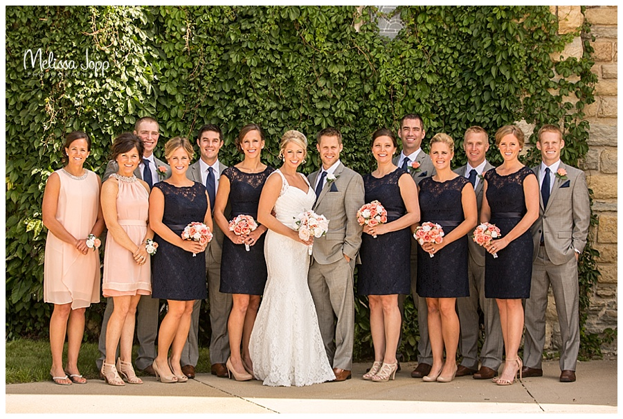 outdoor wedding party pictures southwest metro mn