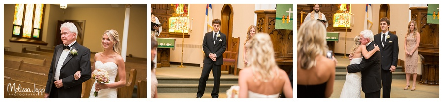 father and bride walking down the aisle norwood young america mn