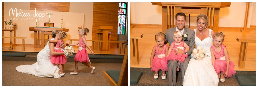 flower girl wedding pictures carver county mn