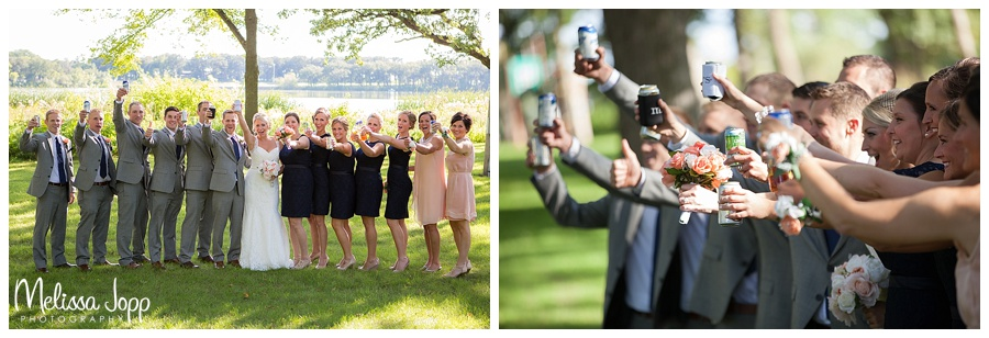 outdoor wedding pictures by lake mn