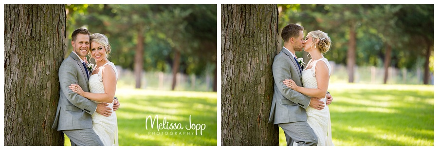 bride and groom outdoor wedding pictures carver county mn