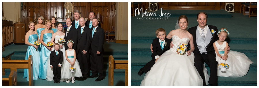 wedding party church pictures chaska mn