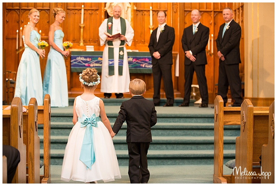 flower girl and ring bearer wedding pictures chaska mn