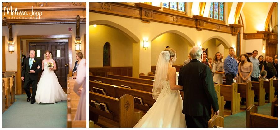 father walking bride down aisle chaska mn