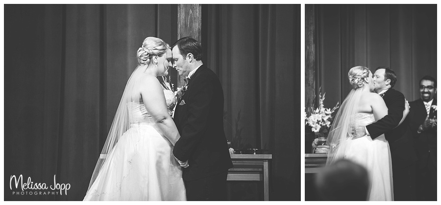 first kiss wedding pictures minneapolis mn