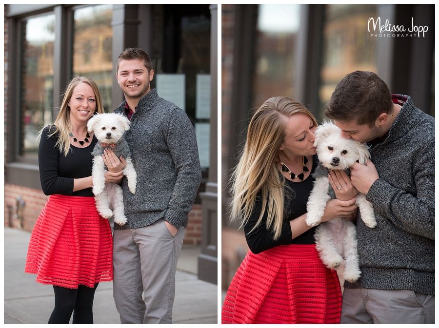 engagement pictures with dog excelsior mn
