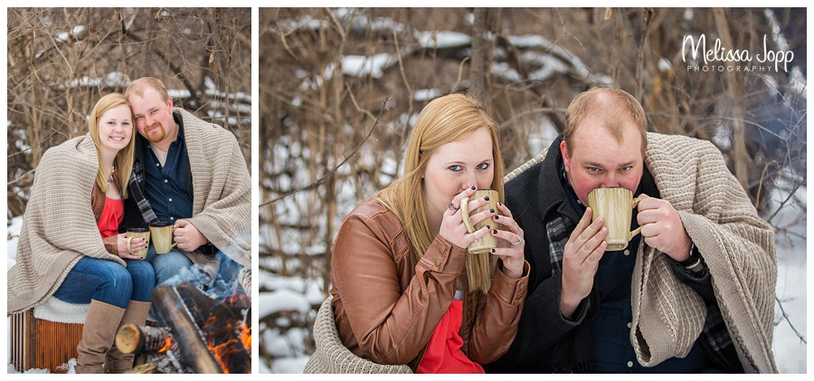 engagement pictures with hot chocolate mn