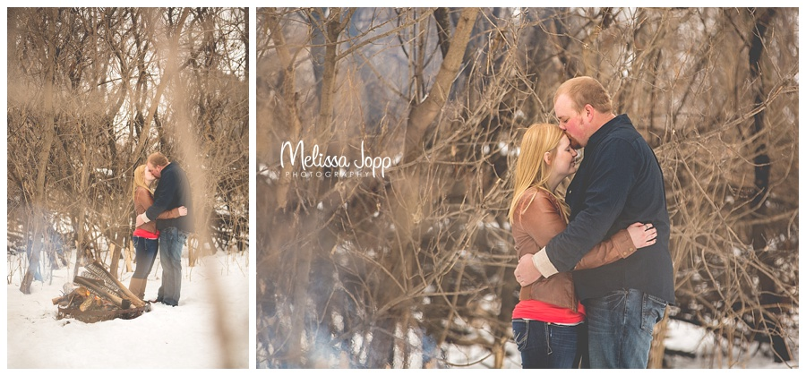 winter engagement pictures by woods mn