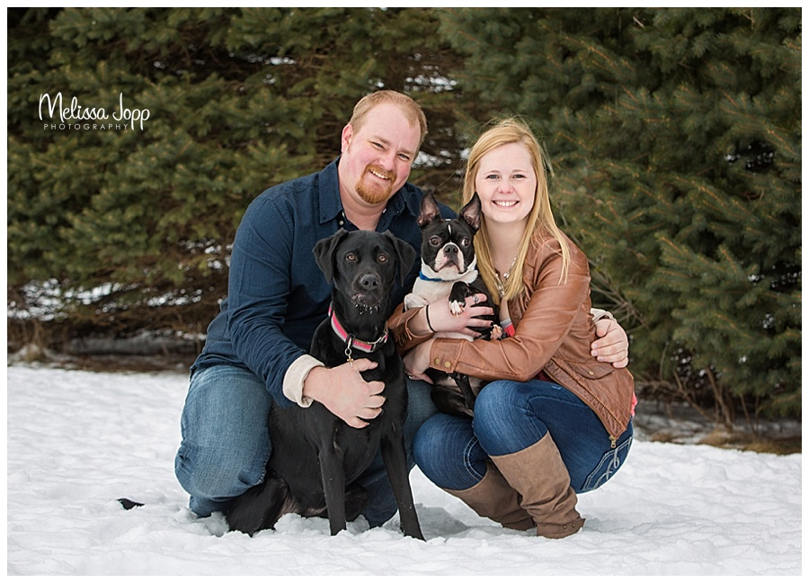 engagement pictures with dogs carver county mn