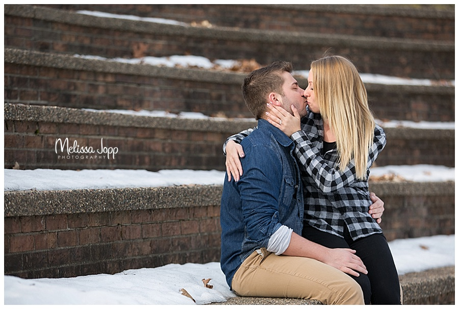 outdoor winter engagement pictures excelsior mn