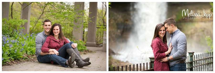 outdoor engagement pictures minneapolis mn