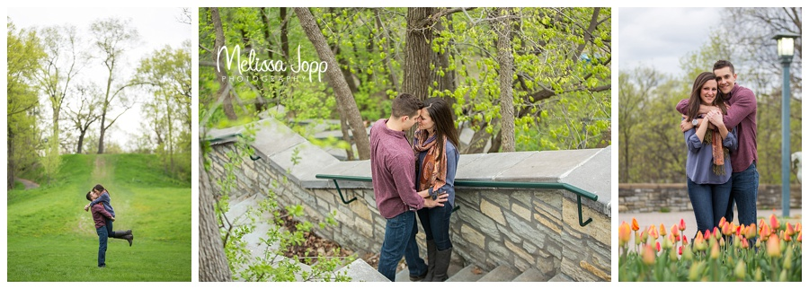 engagement pictures with flowers minneapolis mn