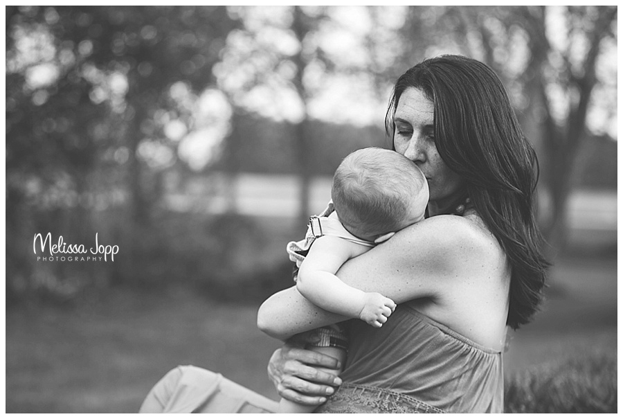 mom kissing baby carver county mn