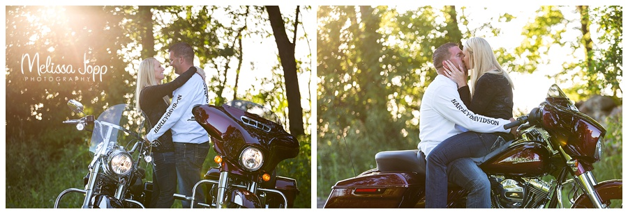 engagement pictures with motorcycle delano mn