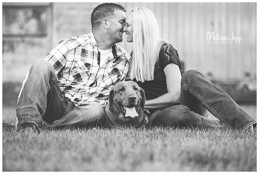 engagement pictures with dog carver county mn