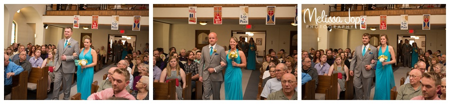 wedding party walking down the aisle carver county mn