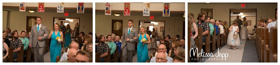 wedding party walking down the aisle mn