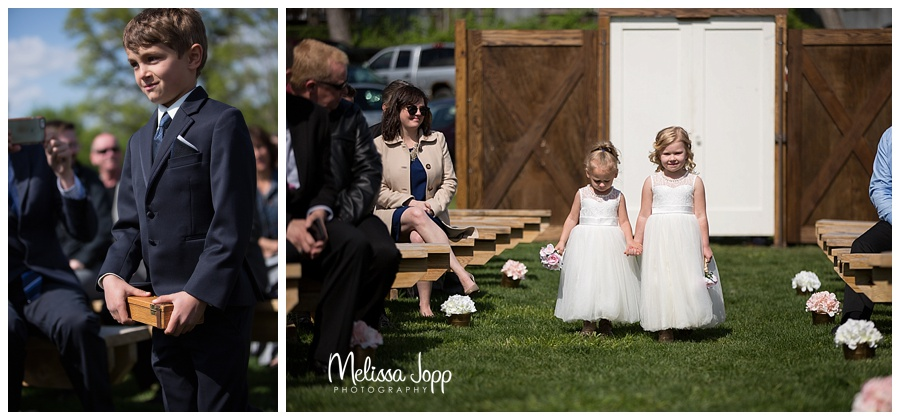 flower girl and ring bearer pictures cottage grove mn