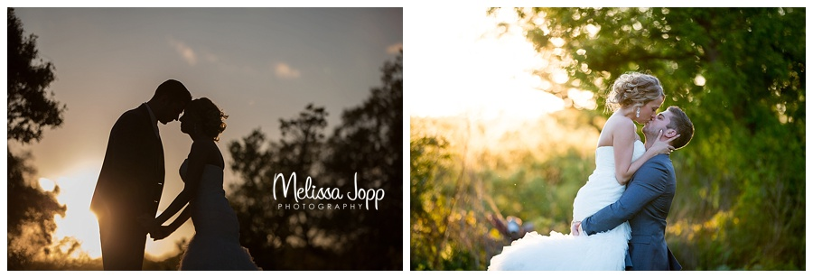 sunset wedding picture carver county mn