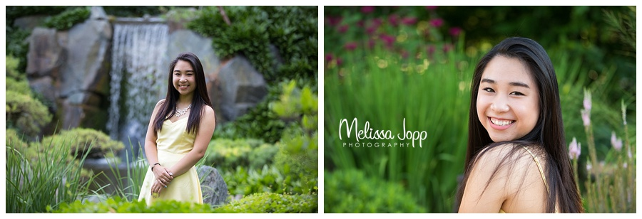 senior pictures with waterfall chanhassen mn