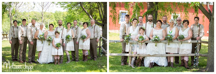 wedding party pictures jordan mn