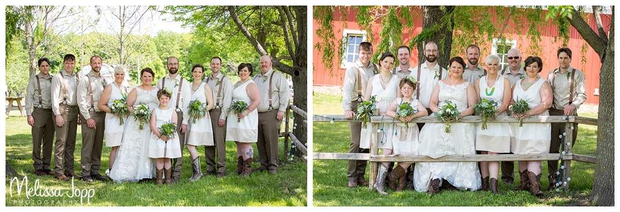 wedding party pictures jordan mn