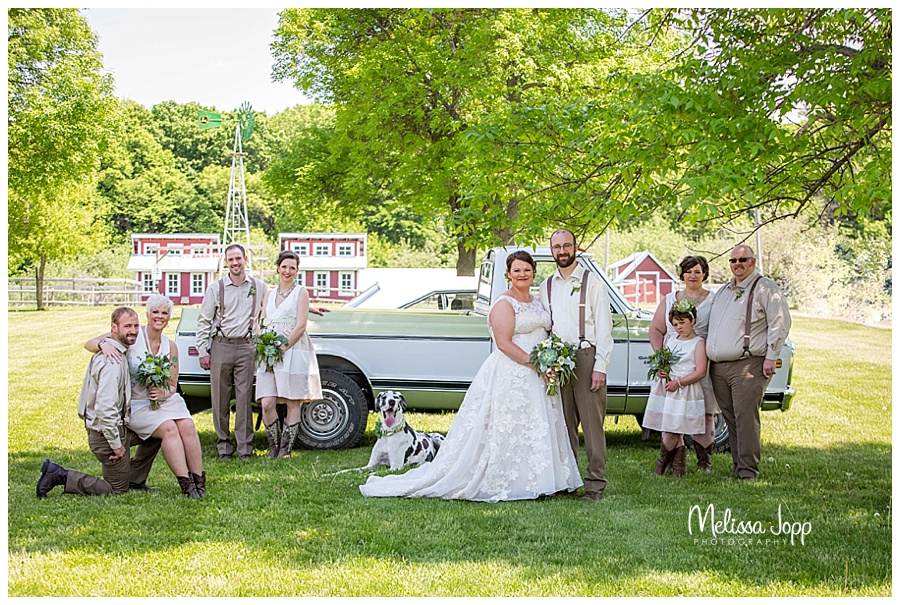 outdoor wedding pictures with dog carver county mn
