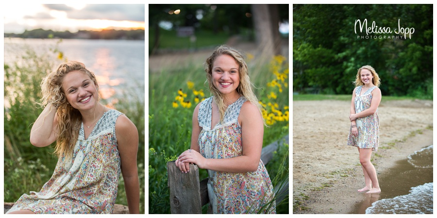 senior pictures by the lake excelsior mn
